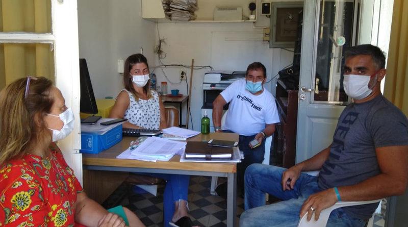 Carlos Salinas y Daniela Amichetti se reunieron para coordinar la campaña de vacunación contra el Covid-19 en el distrito