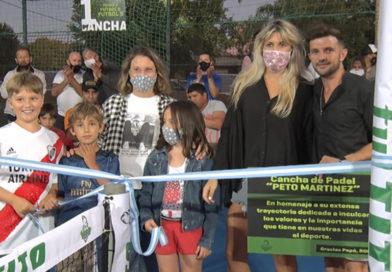 Rolo Martínez y la inauguración de la cancha de Padel en Ful Tito