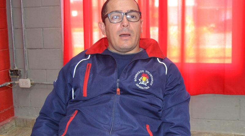 Lucas Laborde contó que fueron vacunados los bomberos de Rojas