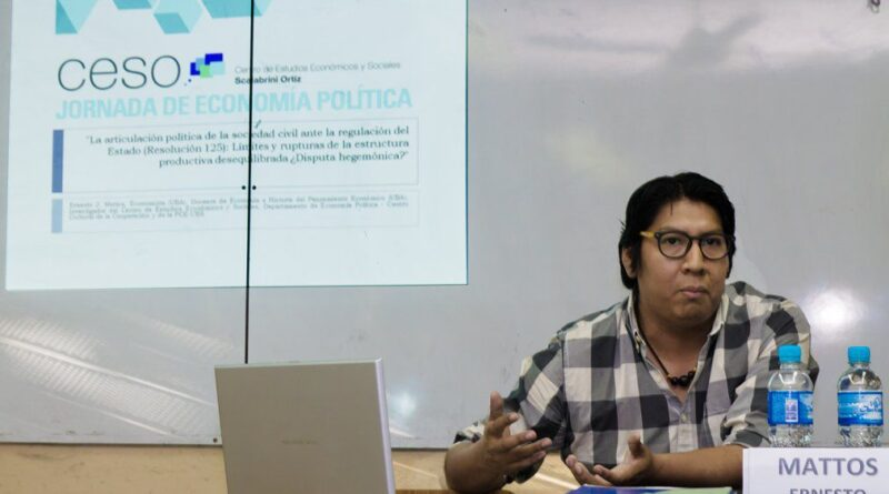 El economista Ernesto Mattos trazó un panorama de la realidad de País