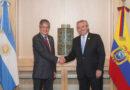 Alberto Fernández se reunió con el presidente ecuatoriano Guillermo Lasso y tendrá una cargada agenda en Perú