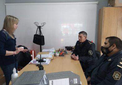 Betsabé Corro y el Comisario Jose Luis Gimeno hablaron sobre el día de la primavera